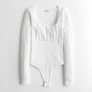 Ruched Scoopneck Cheeky Bodysuit